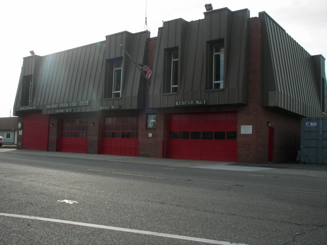 The front of the Island Park Fire Department, which acted as an emergency center during Sandy. Photo Credit: Camilla Arellano