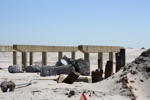 What's left of the Long Beach Boardwalk. Photo Credit: Amanda Salvucci