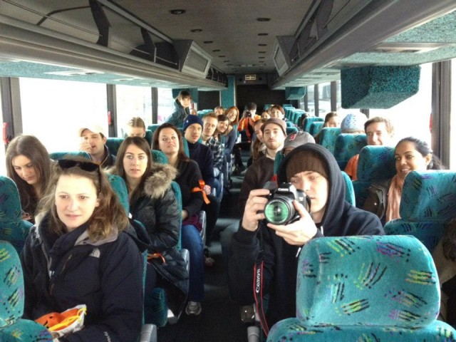 watchSandyBaggers on a donated bus heading to volunteer in the Rockaways. Photo Credit: SandyBaggers